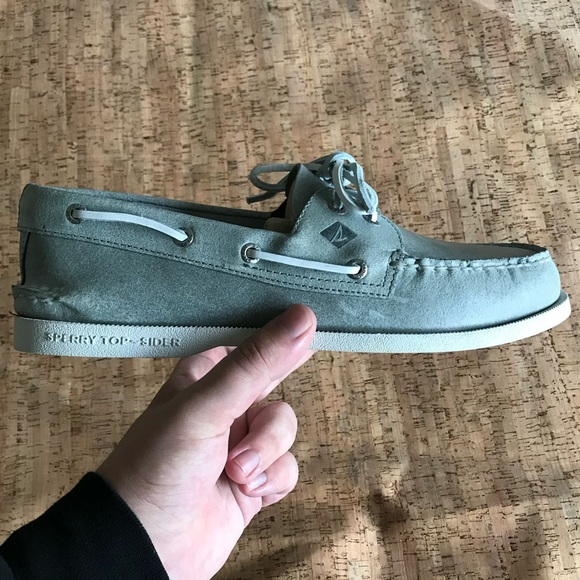 Sperry Other - Grey Sperry 2 eye Richtown Boat Shoe